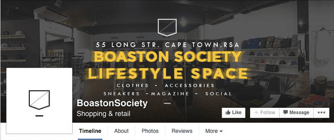 facebook cover design with additional text info