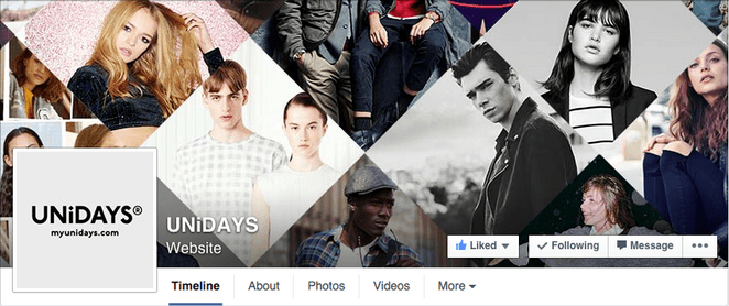 facebook cover with interesting photo grid design