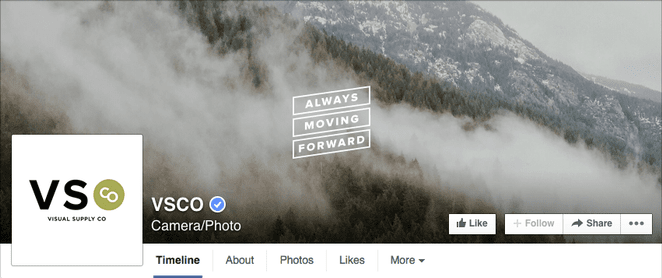 facebook cover with photo background and slogan
